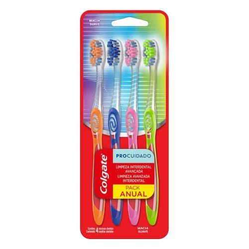 Escova de Dente Colgate Pro Cuidado 4 unid