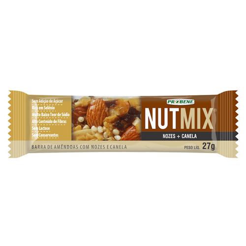 Cereal Barra Nutmix Nozes E Canela Sem Açúcar 27g