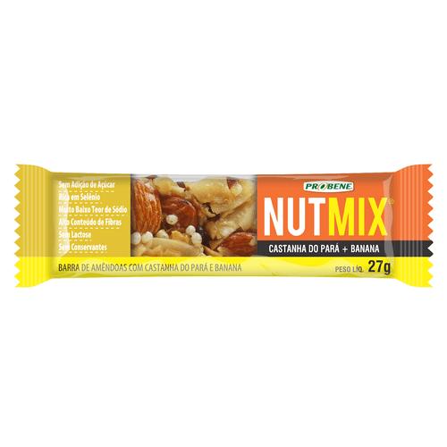 Cereal Barra Nutmix Castanha Do Pará E Banana Sem Açúcar 27g