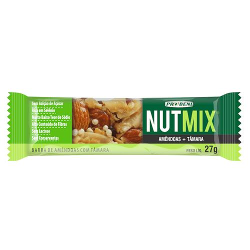 Cereal Barra NutMix Amêndoas E Tâmara Sem Açúcar 27g