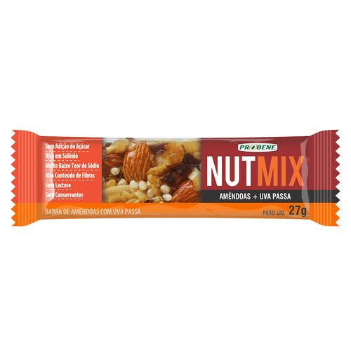 Cereal Barra Nutmix Amêndoas E Uva Sem Açúcar 27g