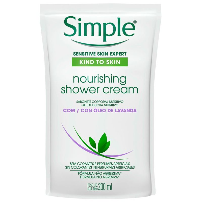 sabonete-liquido-corporal-simple-nourishing-shower-cream-com-oleo-de-lavanda-refil-200ml-Pague-Menos-51230_1