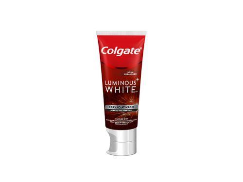Creme Dental Colgate Luminous White Carvão Ativado 70g
