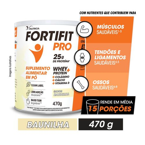 FORTIFIT PRO Suplemento Alimentar Baunilha 470g