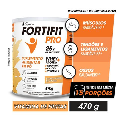 FORTIFIT PRO Suplemento Alimentar Vitamina de Frutas 470g