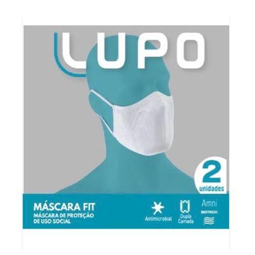 Máscara De Tecido Lupo Fit Proteção K2 Com 2 Unidades