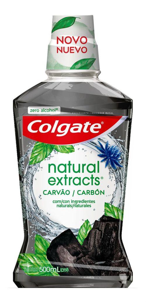 Enxaguante Bucal Colgate Natural Extracts Carvão Zero Álcool 500ml