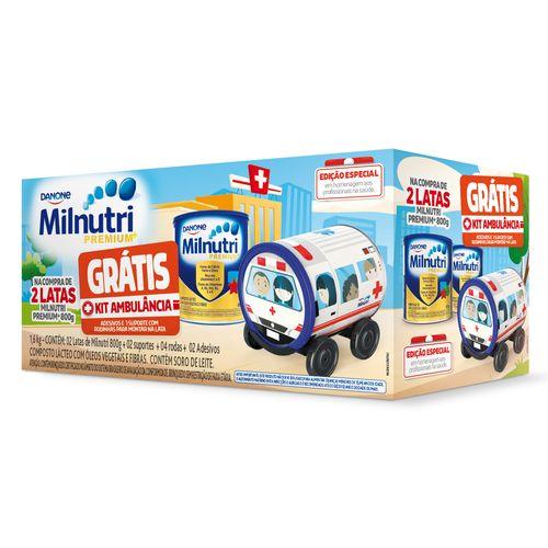 Composto Lácteo Pack Promocional Milnutri Premium 2x800g - Brinde Grátis