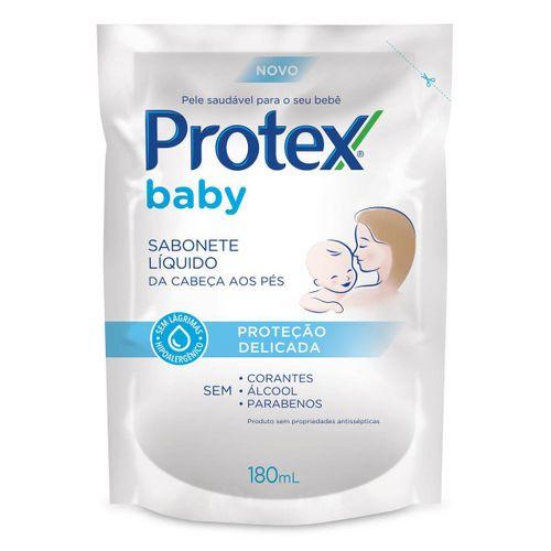 Sabonete Líquido Infantil para bebês Protex Baby Delicate Care 180ml Refil