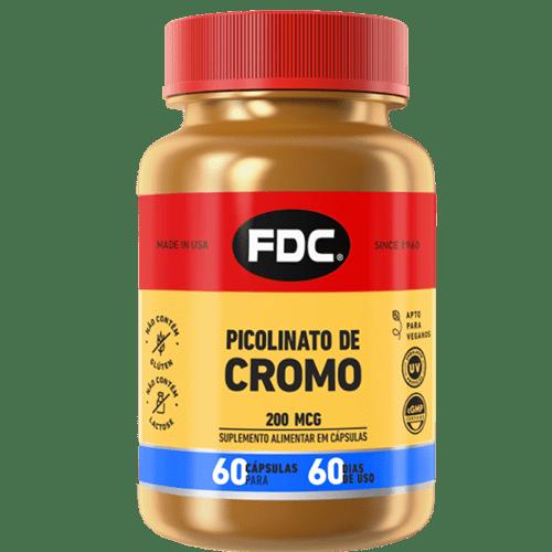 Picolinato De Cromo 200mcg Com 60 Cápsulas