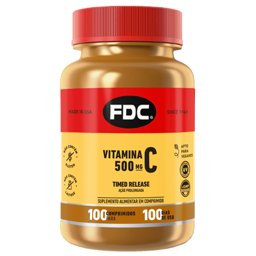 Vitamina C 500mg Timed Release Com 100 Comprimidos Fdc