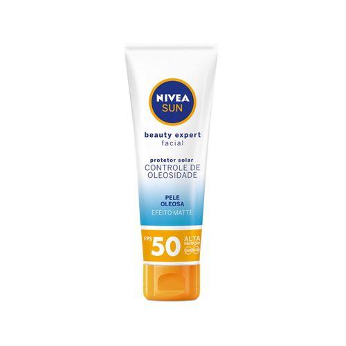 NIVEA SUN Protetor Solar Facial Beauty Expert Pele Oleosa FPS 50 50g