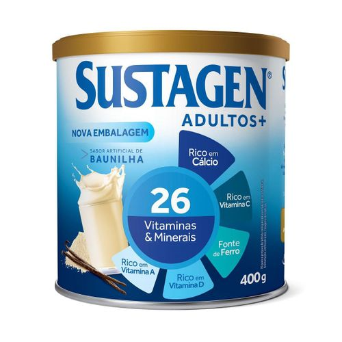 Complemento Alimentar Sustagen Adultos+ Sabor Baunilha - Lata 400g