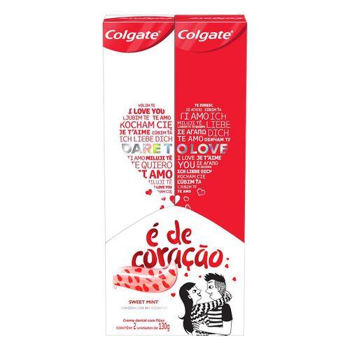 Creme Dental Colgate É De Coração Sweet Mint 130g Com 2 Unidades