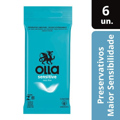 Preservativo Camisinha Olla Sensitive - 6 Unidades