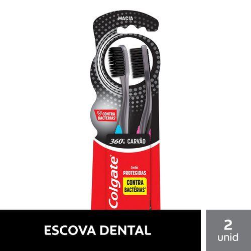 Escova Dental Colgate 360º Black 2unidade