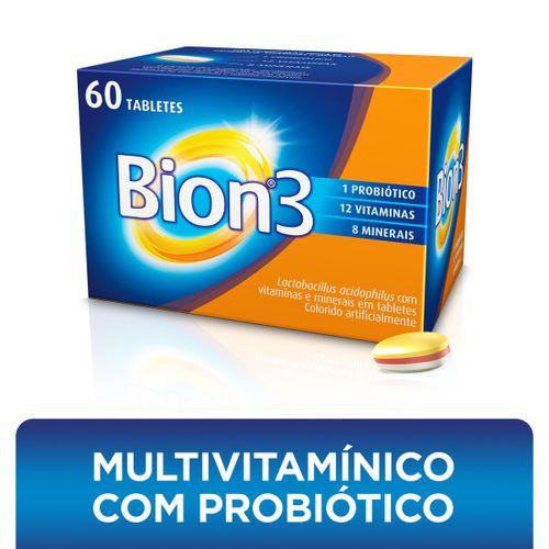 Bion3 Adultos Tabletes Multivitamínico E Probiótico 60 Unidades