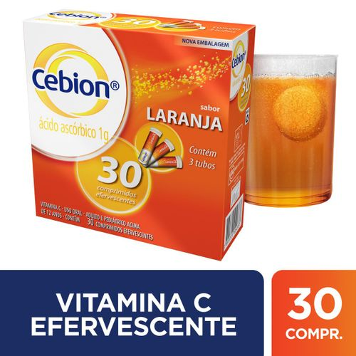 Cebion Vitamina C Comprimidos Efervescentes sabor Laranja com 30 comprimidos