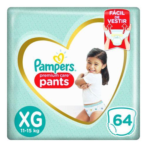 Fralda Pampers Pants Premium Care Tamanho Xg Com 64 Unidades