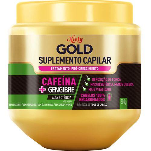 Creme De Tratamento Niely Gold Pró-Crescimento Suplemento Cafeína 800g