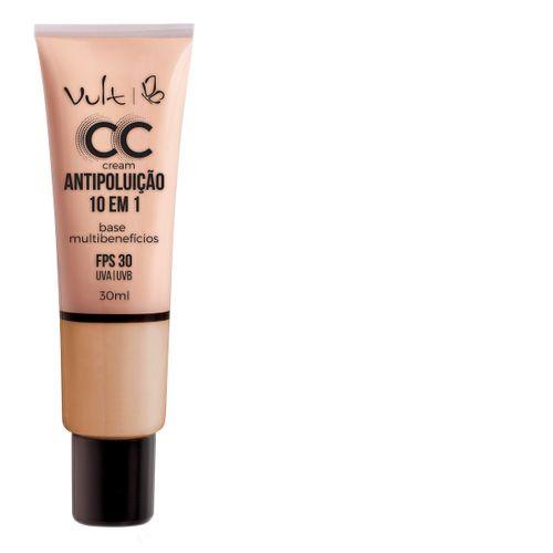 Base Vult Cc Cream Antipoluição Fps30 Mb04 30ml