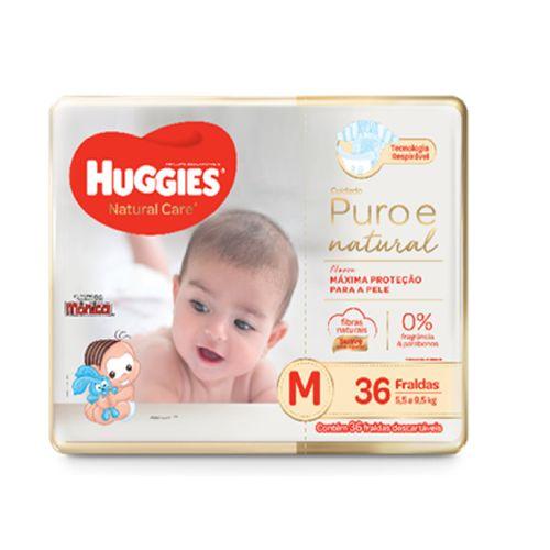 Fralda Huggies Natural Care Mega Tamanho M Com 36 Unidades