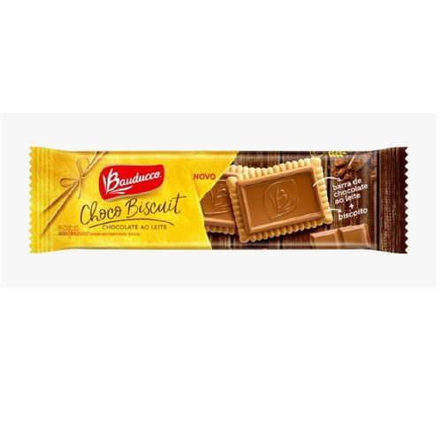 Biscoito Bauducco Biscuit Chocolate Ao Leite 80g