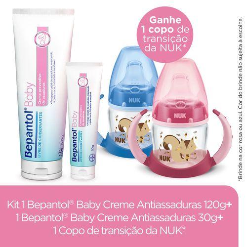 Kit Presente Especial Cha De Bebe Bepantol Baby + Nuk Compre 1 Bepantol Baby 120g + 1 Bepantol Baby 30g E Granhe Um Copo De Transição Nuk