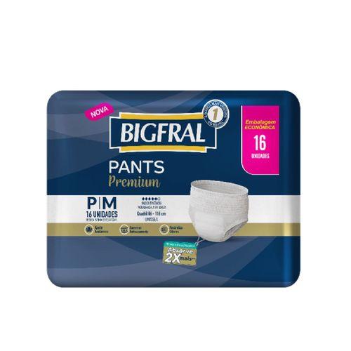 Roupa Íntima Para Incontinência Bigfral Pants Tamanho P/M Com 16 Unidades