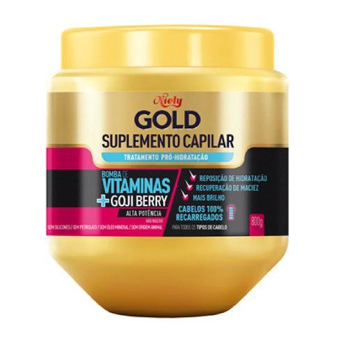 Creme Tratamento Niely Gold Suplemento Vitaminas 800ml