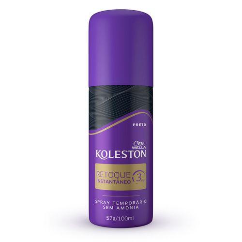 Tintura Koleston Spray Retoque Instantaneo Cor Preta 100ml/57g