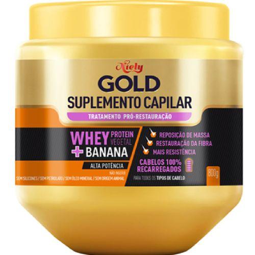 Cr Eme De Tratamento Niely Gold Suplemento Capilar  Whey Protein + Banana 800g