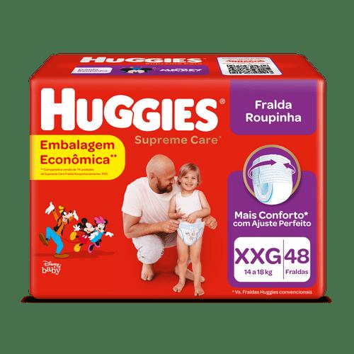 Fralda Huggies Supreme Care Hiper Roupinha Tamanho Xxg Com 48 Unidades