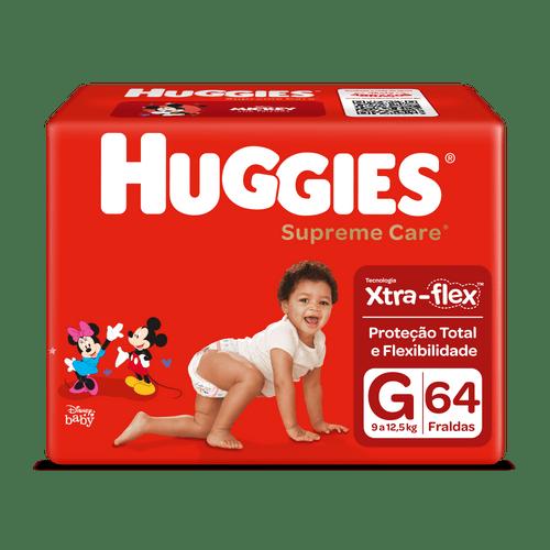 Fralda Huggies Supreme Care Hiper Tamanho G Com 64 Unidades
