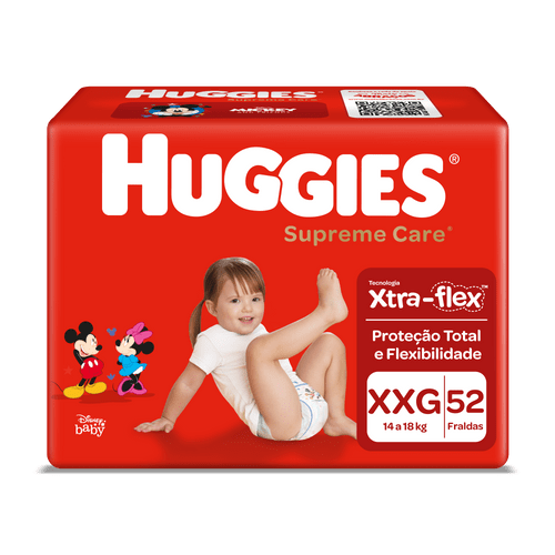 Fralda Huggies Supreme Care Hiper Tamanho Xxg Com 52 Unidades