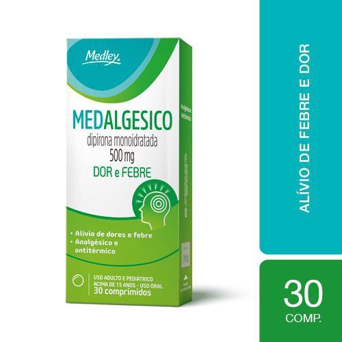 Medalgesico 500mg Com 30 Comprimidos