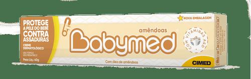 Babymed Amendoas Creme Dermatológico Proteção Contra Assadura 40g