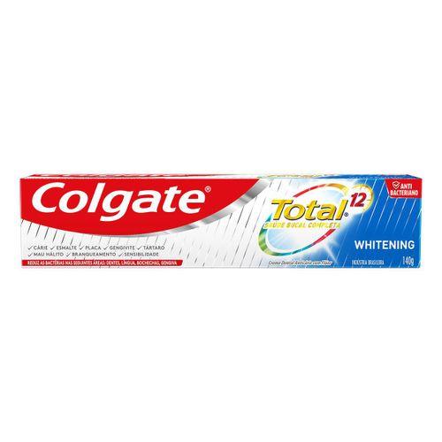 Creme Dental Colgate Total 12 Whitening 140g
