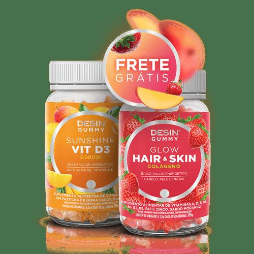 Desin Gummies Hair Skin Glow + Sunshine VIT D3