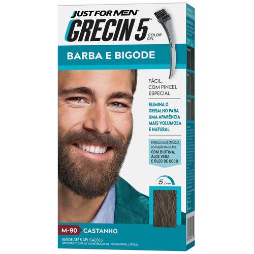 Barba e Bigode Grecin 5 Castanho