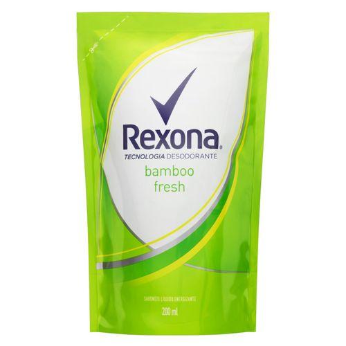 Sabonete Líquido Refil Antibacteriano Rexona Bamboo Elimina 99% das bactérias 200ml