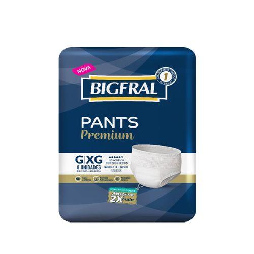 Roupa Íntima Para Incontinência Bigfral Pants Tamanho G/Xg Com 8 Unidades