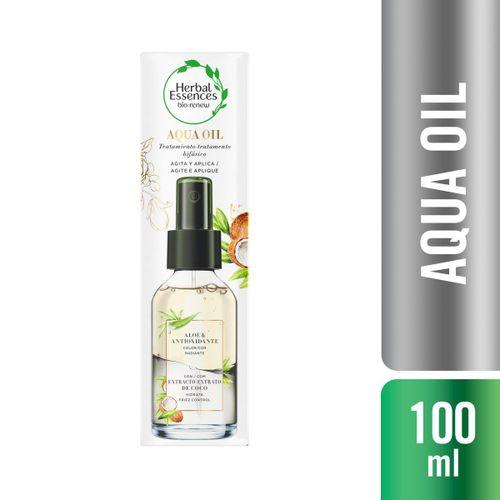 Aqua Oil Herbal Essences Aloe & Antioxidante Extrato De Coco 100ml