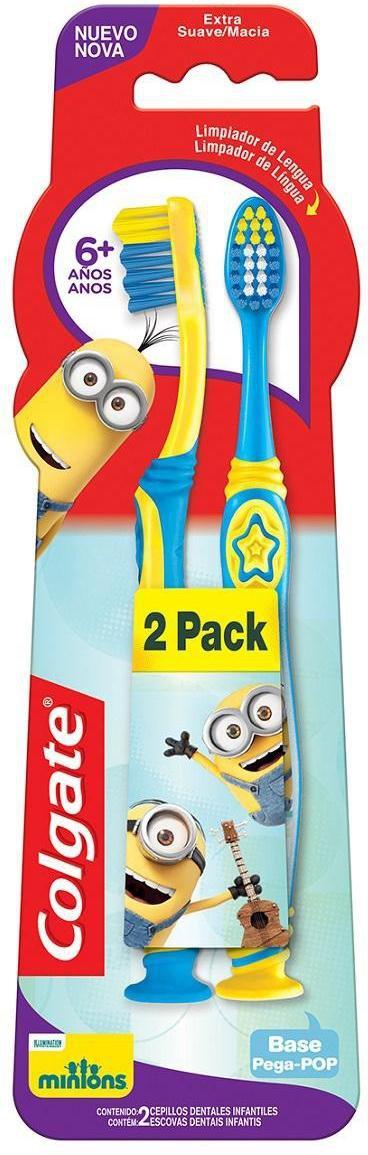 Escova Dental Infantil Colgate Smiles Minions Macia 2un Promo C/ Desconto