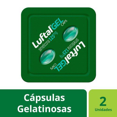 Antigases Luftal Gel Caps Simeticona 125mg - 2 Cápsulas Gelatinosas