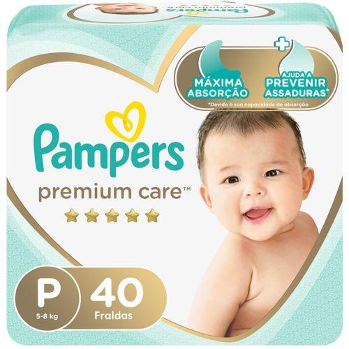 Fraldas Pampers Premium Care P 40 Unidades
